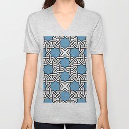 Entwined graphic Lines Home Design - light blue Unisex V-Neck