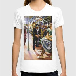American Masterpiece 'Subway' by Lily Furedi T-shirt