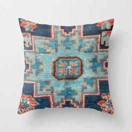 Karabakh  Antique South Caucasus Azerbaijan Rug Print Throw Pillow