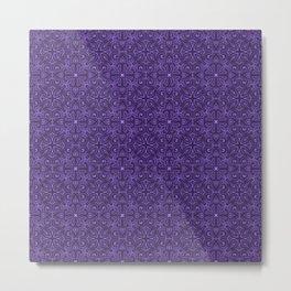 Purple Swirl pattern Metal Print