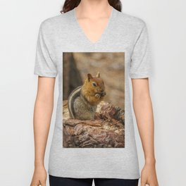 The Squirrel and the Redwood Unisex V-Neck
