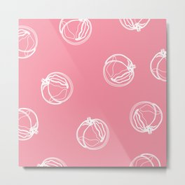 Pink Peaches Metal Print