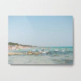 Summer in Italy | Spiaggia Pilone Puglia | Wanderlust beach photography print Metal Print