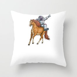 I Need More Space Astronaut Horse Outserspace Science Geek Throw Pillow