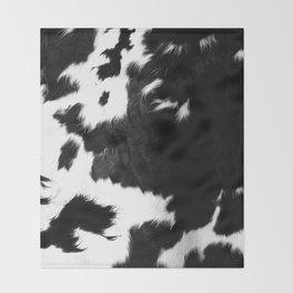 Rustic Cowhide Throw Blanket