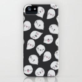 CUTE GHOST PARTY (BLACK) iPhone Case