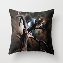In Dead of Night Throw Pillow