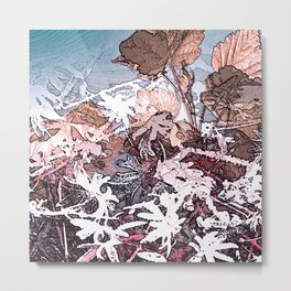Frosty Transformation to Winter - An abstracted impression Metal Print