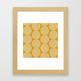 Beech in Gold Framed Art Print