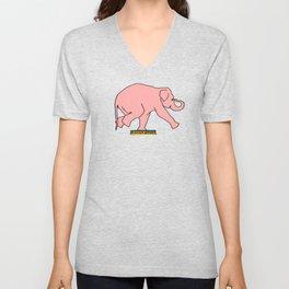 elephant drawing, elephant painting, pink elephant pictures, Unisex V-Neck