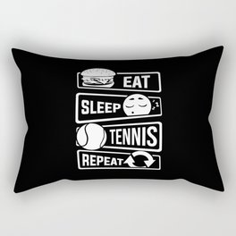 Eat Sleep Tennis Repeat - Rackets Ball Sports Rectangular Pillow