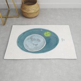 Haruki Murakami's 1Q84 Watercolor Illustration Rug