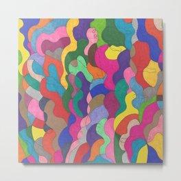 Chaos in Color Metal Print