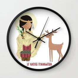 Santa Kateri Tekakwitha Wall Clock