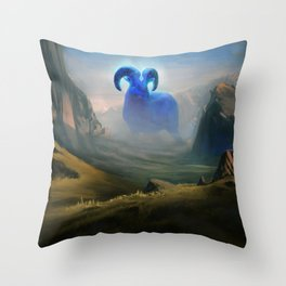 Sentinel of the Kartarjie Stones Throw Pillow