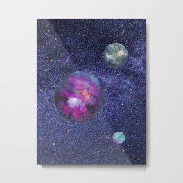 Stars and Planets Metal Print