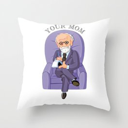 Sigmund freud funny quote Throw Pillow