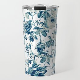 Vintage & Shabby-chic - floral blue roses flowers rose garden Travel Mug