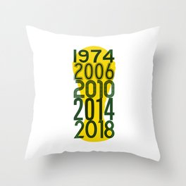 World Cup Fonts Australia Throw Pillow