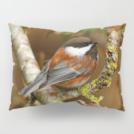 Chestnut-Backed Chickadee in the Cherry Tree Pillow Sham