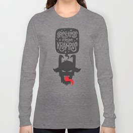 Greetings From Krampus Long Sleeve T-shirt