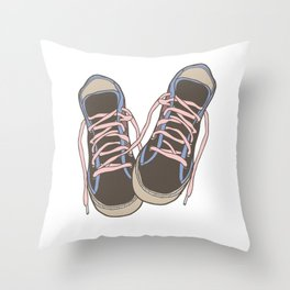 Trainers or Sneakers Illustration Throw Pillow
