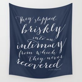 F. Scott Fitzgerald Love Quote from This Side of Paradise in Navy Blue Wall Tapestry