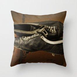 Vintage Baseball Cleats Throw Pillow