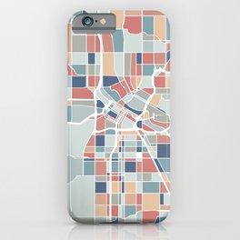 Minneapolis Map Art iPhone Case