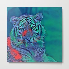 AnimalBlue_Tiger_007_by_JAMColors Metal Print