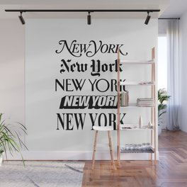 I Heart New York City Black and White New York Poster I Love NYC Design black-white home wall decor Wall Mural