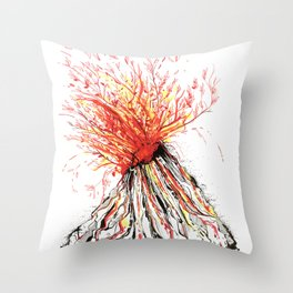 Self Destruction Throw Pillow