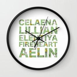 The many names of Aelin Galathynius Wall Clock