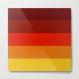 Multicolor Retro Strips Metal Print