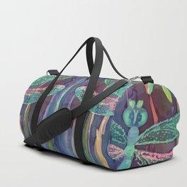 Dragonflies in blue Duffle Bag