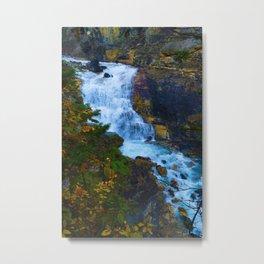 White Falls along the Berg Lake Trail in BC Metal Print