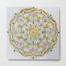 Tori's flower mandala Metal Print