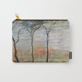 Pastel Wood Carry-All Pouch