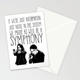 Root & Shaw - Symphony - Person of interest Stationery Cards
