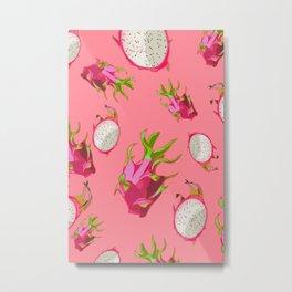 Dragonfruit Pattern Metal Print