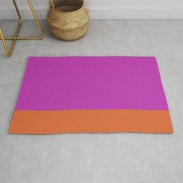 Fuschia Pink & Orange Color Block  Rug