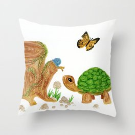 Slow and Shelled Throw Pillow