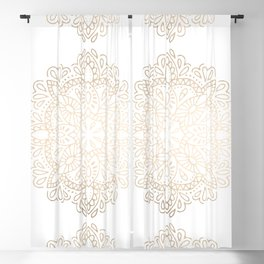 Mandala White Gold Shimmer by Nature Magick Blackout Curtain