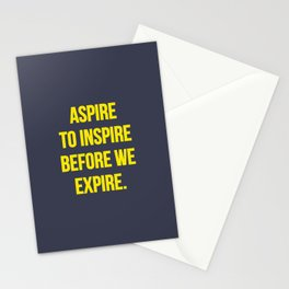 Aspire to inspire | Inspirational quote Stationery Cards