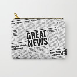 The Good Times Vol. 1, No. 1 / Newspaper with only good news Carry-All Pouch