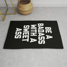 Be A Badass Gym Quote Rug