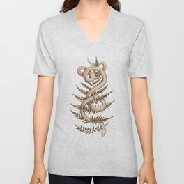 The Snake and Fern Unisex V-Neck