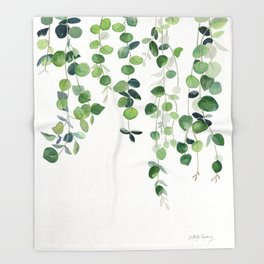 Eucalyptus Watercolor 2  Throw Blanket