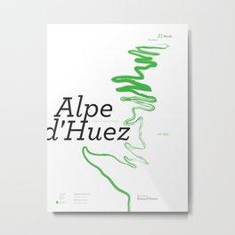 Famous Climbs: Alpe d'Huez 1, Modern Metal Print