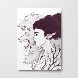 Wolf Witch - Wolf Spirit Animal Metal Print